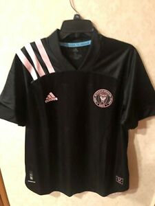 NEW ADIDAS DC UNITED MLS LEIDOS SOCCER Black/Pink JERSEY SIZE: XL  MENS $130.00