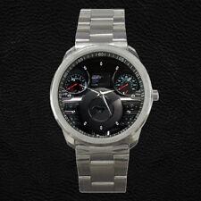 Custom Mustang Steering Wheel Dashboard Speedometer Stainless Steel Watch