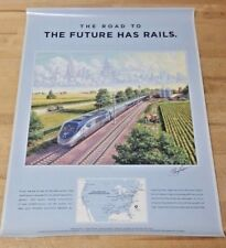 The Road to the Future has rails 24x18 Poster Print  J Craig Thorpe Art  NIP