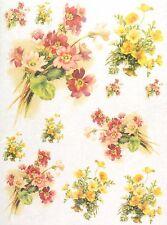 Carta di riso per Decoupage Decopatch Scrapbook Craft sheet Bouquet colorati