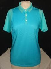 NWOT PUMA BLUE/GREEN DRY CELL POLY S/S POLO TOP SZ. L NO LOGOS