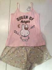 Ladies Miffy Bunny pyjamas set Brand New Vest  & Shorts Set Size 10-12