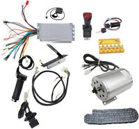 Electric Brushless DC Motor Kit, 48V 1800W High Speed Motor Controller Go Kart