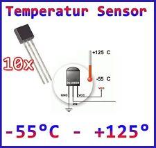 10 x DS18B20 Digitales Thermometer , Thermostat , Temperatursensor +/- 0,5°C