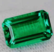 LARGE 14.5-16.5ct Natural Mined Green Emerald AAA+ Emerald Cut Loose Gemstone