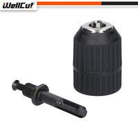 Wellcut HSS Keyless SDS Drill Chuck with Lock SDS Adaptor Hardware Tool 2-13MM