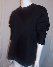 CALVIN KLEIN White Label NWT Quilted Block Sweatshirt Color Black X-Large