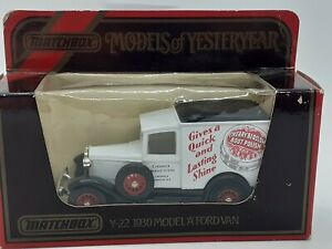 MATCHBOX Models Of Yesteryear Y-22 1930 Model A Ford Van. CHERRY BLOSSOM POLISH