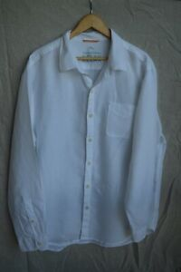 Tommy Bahama 100% white linen shirt...size XL...excellent condition