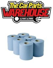 HAIRDRESSERS BLUE PAPER WIPE CENTRE FEED PULL TOWEL 2 PLY 104M X6 (SIX)