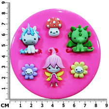 Little Pixie Unicorn and Dragon Silicone Mould by Fairie Blessings