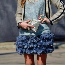 STRADIVARIUS FEATHER SKIRT BLUE BLOGGERS SIZE S SMALL
