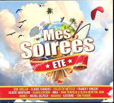 MES SOIREES - ETE - FETE ET AMBIANCE- DIGIPACK COMPIL 3 CD - NEUF ET SOUS CELLO