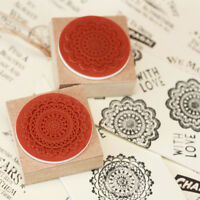 Lace Doily Round Style Rubber Stamps x 2 - Craft / Scrapbooking / Wedding