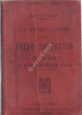 Manuale Hoepli - 1897 - La Fabbricazione dell'Acido Fosforico - phosphoric acid
