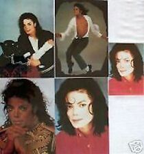 SET 5 MICHAEL JACKSON STICKER POSTCARDS FREE UK P&P