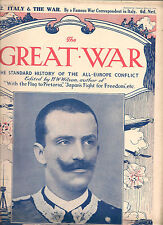 1915 THE GREAT WAR MAGAZINEs x7 PARTs 46-52The King of Italy Victor Emmanuel III