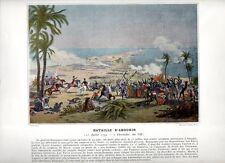 Stampa antica NAPOLEONE BONAPARTE 1799 BATTAGLIA DI ABUKIR Egypt 1890 Old print
