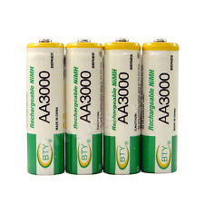 4 x AA 2A 3000mAh Ni-MH 1.2V Volt Rechargeable Battery Green BTY LR06 HR6