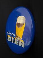 Cool Cerveza Letrero de Metal - Alemania Alrededor 1955 Heinz Fehling 2 . No