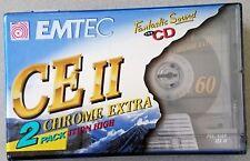 EMTEC CE II CHROME EXTRA CINTA AUDIO DE 60 MINUTOS PACK DE 8 unidades