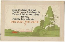 Vintage Postcard - ... Why Don't You Write? (Davis) - Unposted 1767