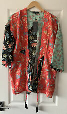 WEDNESDAYS GIRL ASOS FLORAL PATCHWORK KIMONO TOP XS EXTRA SMALL NEW