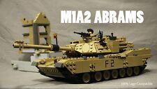 Custom Lego M1A2 Abrams Tank Battle Moc with Army Minifigures Brickarms Humvee
