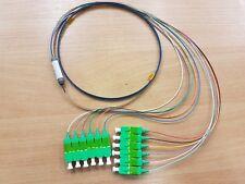 SC/APC 12F Bare ribbon capsule fan out pigtail 3mtr