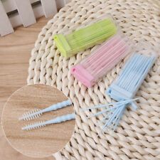 50pcs Double-headed Oral Care Dental Brush Teeth Sticks Floss Pick Toothpick