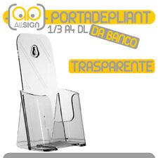 PORTADEPLIANT 1/3 A4 DL TRASPARENTE brochure catalogo porta volantini depliants