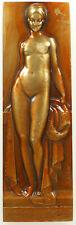France nude art deco LA BEIGNEUSE by Turin bronze 26mm x 96mm