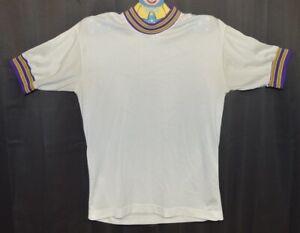 Vintage Champion Ringer Shirt Jersey. Gold/Purple. Size Medium. Made in USA