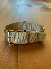 Genuine MWC 18mm N.A.T.O Military Watch Strap in Light Desert Sand