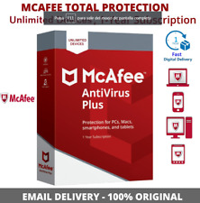 McAfee Antivirus PLUS 2020 ✅ UNLIMITED DEVICES ✅1 YEAR ✅ KEY + LINK DOWNLOAD