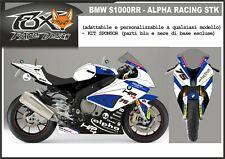 ADESIVI stickers moto KIT per BMW S1000RR kit sponsor replica alpha racing STK