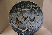 HAVILAND 12 DAYS OF CHRISTMAS PLATE 1972 THREE FRENCH HENS