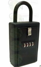 4 Digit Realtor Lock Box for Key Card Storage with Hinged Door (Lot of 24)