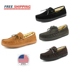 Men's Slippers House Casual Moccasin Warm Line Comfort Loafers Shoes Size 6.5-15