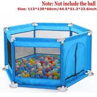 6 Side Baby Children Pet Foldable Kids Playpen Play Pens Room Divider   !*