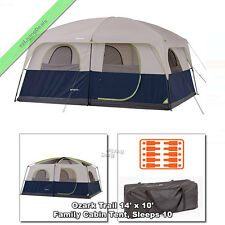 Ozark Trail Cabin Tent 10 Person 2 Room 14'x10' Outdoor Family Camping Tents