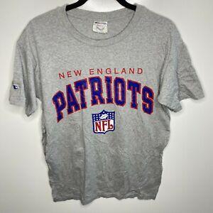 Champion T-Shirt Men's XL Gray New England Patriots Vtg 90s *Read Flawed*