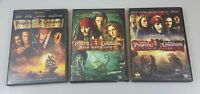 Pirates of the Caribbean 1,2,3 At World's End Chest Pearl Disney DVD Lot 3 B2