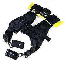 Professional Quick Rapid Double Shoulder Camera Strap Black Dual Neck Sling Belt