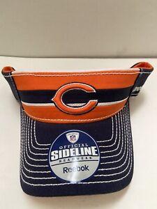 Chicago Bears NFL Men's Sideline Visor, Orange,Navy Adjustable