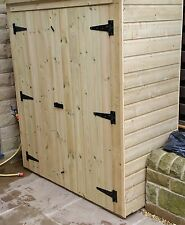 """6ft wide x 2ft 6"""" deep x 5ft high WOODEN PRESSURE TREATED GARDEN SHED - NEW"""