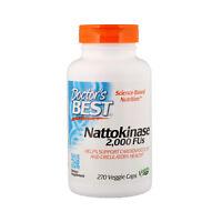 Doctor's Best, Nattokinase, 2,000 FUs, 270 Veggie Caps, Gluten Free, Vegan