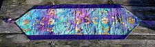 "Batik Table Runner 100% Cotton Fabric New Handmade 13.75"" x 52"" Rayon Tassels"