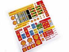 SHELL GASOLINE PETROL STATION STICKERS for LEGO 1253 1255 1256 ,CUSTOM BUILD ETC