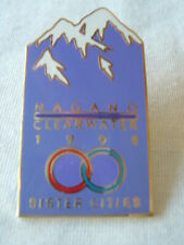 Nagano Clearwater 1998 Sister Cities~Mountains Tie Tac Lapel Hat Push Pinback